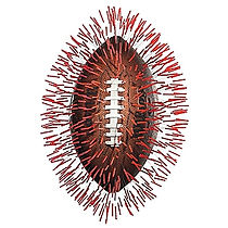Football image with acupuncture needles in it