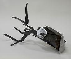 sculpture acier branche
