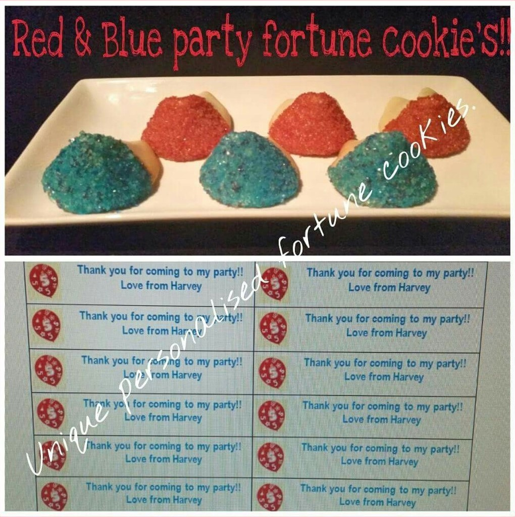 Red & Blue Sprinkles for Party Bags