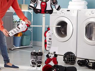 Tu veux laver ton matériel de hockey ?