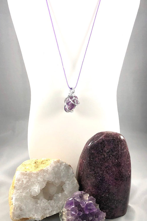 Wire wrapped Amethyst