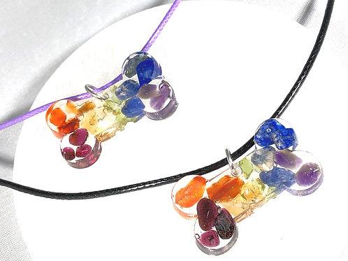 Dog Bone Chakra necklace