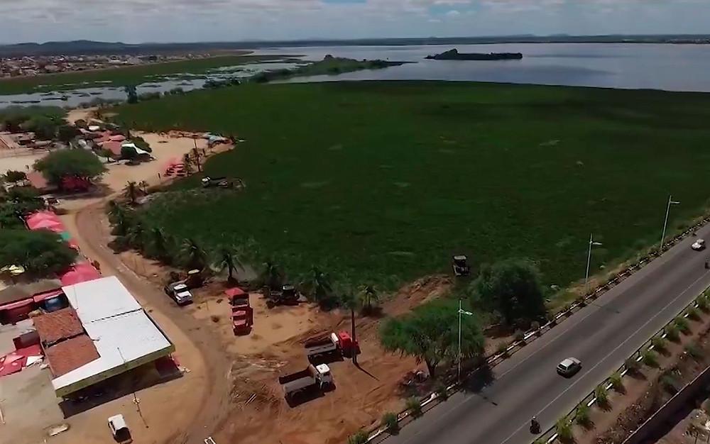 Baronesas tomam conta de prainhas de Paulo Afonso, na Bahia (Foto: Imagens / TV São Francisco)