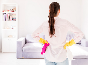 Woman cleaning her home Photo   Free Dow