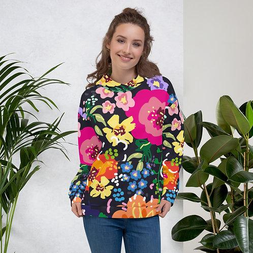 Dark Floral Colorful Unisex Hoodie