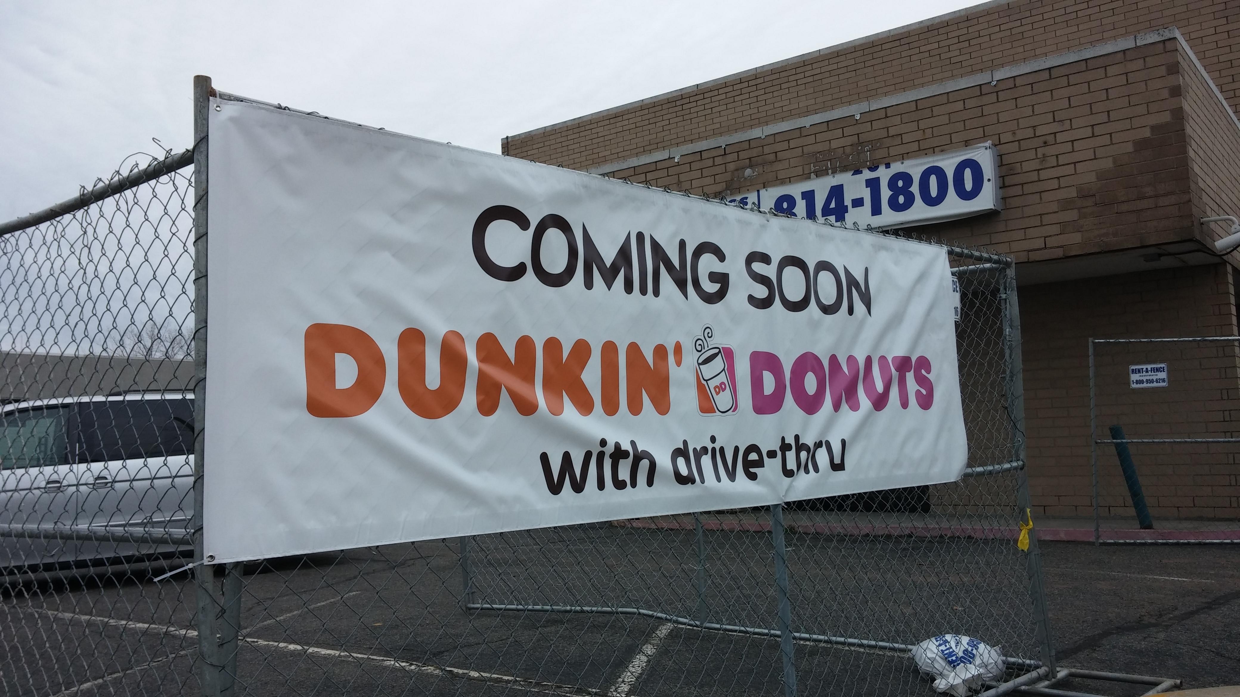 Dunkin Donut Banner