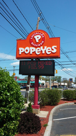 Popeyes - Pylon Sign