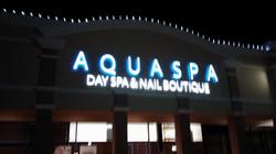 Aqua Spa - Channel Letters