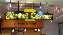 Street Corner - Neon Sign