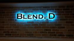 Blend. D - Backlit Channel Letters