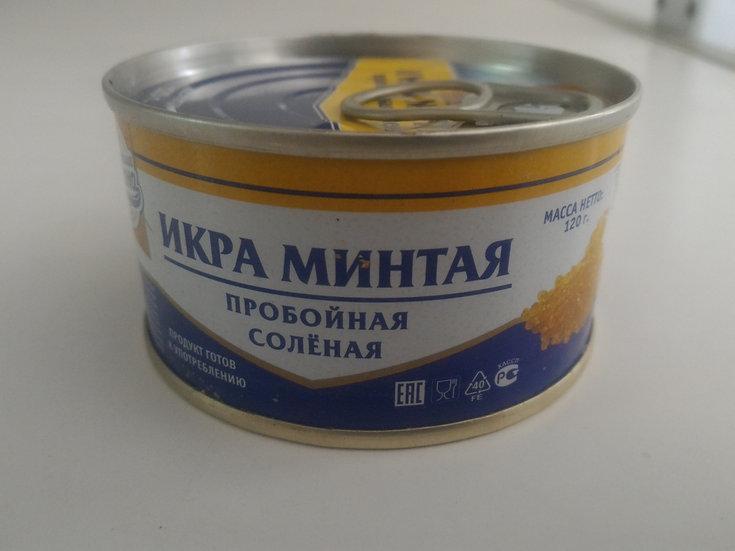 """Икра минтая """"Сокровища океана"""" 120г ж/б с/к 1/108"""