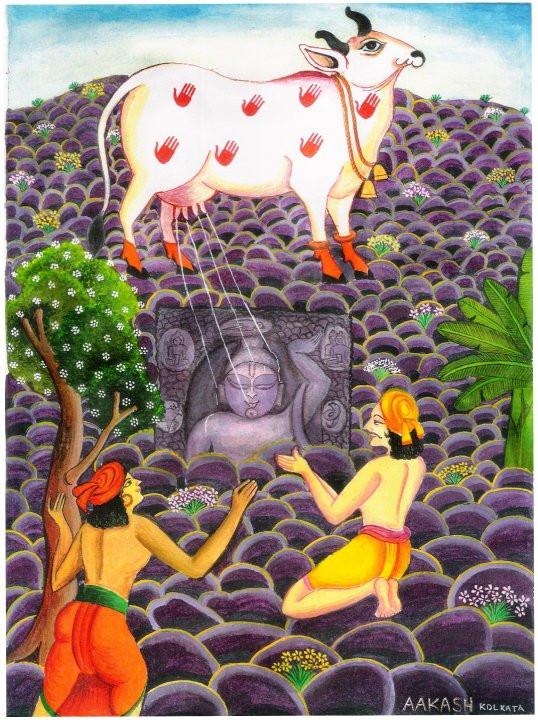 Saddu Pande and Bhavai have darshans of Shree GovardhanNathji