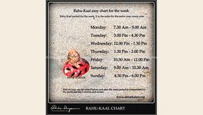 Rahu Kaal - Astrological Mahurats