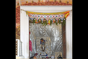 ShreeNathji Chavi darshans at the mandir