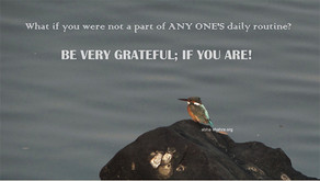 Be very grateful