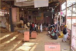 जतिपुरा, श्री गोवर्धन में श्रीनाथजी मुखारविंद का विवरण