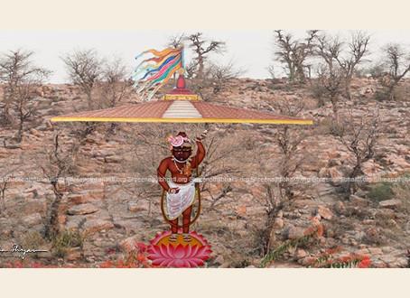 7th Charan Chauki is at Kishangarh, Pitambar kee gaal, Rajasthan