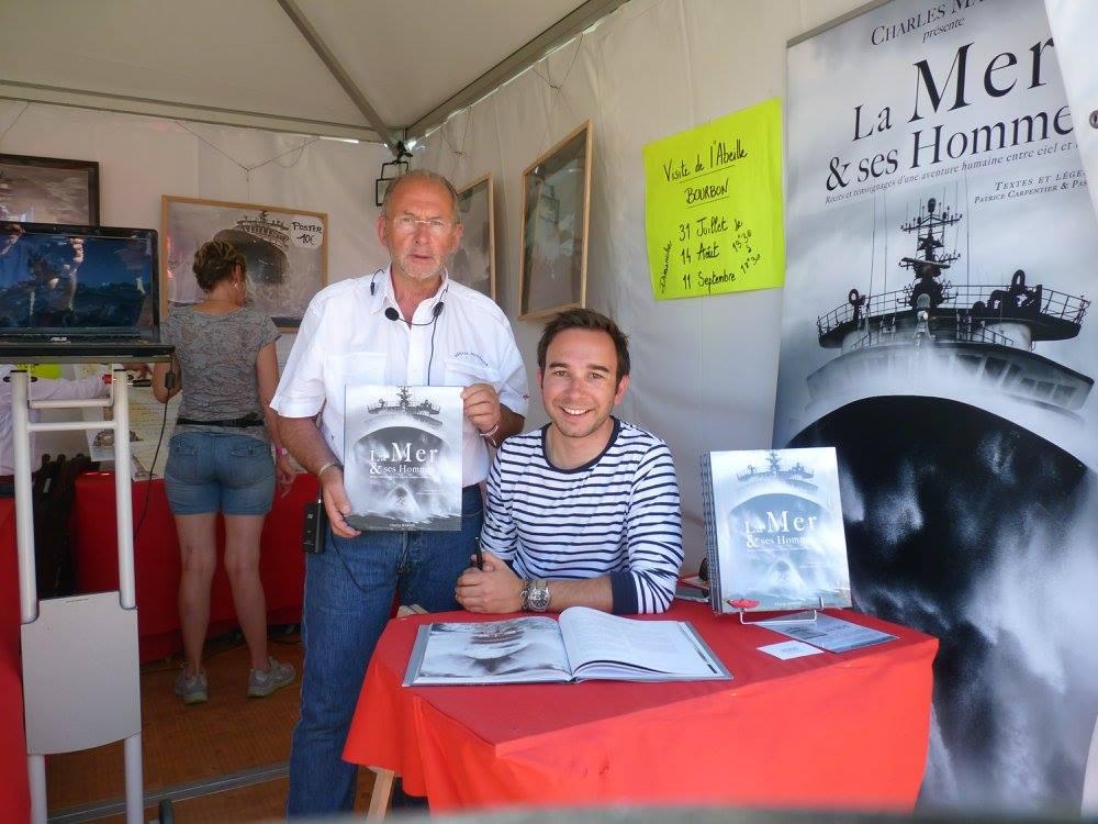 Avec jean-Paul hellequin, président de l'association Mor Glaz et amoureux des Abeilles et de leurs histoires.