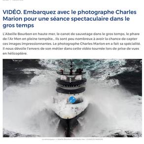 """Voiles et Voiliers : """"Embarquez avec le photographe Charles Marion [...]"""""""