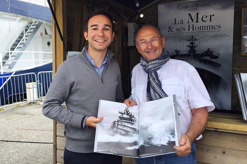 Avec Jean-Paul Hellequin et un exemplaire de La Mer & ses Hommes