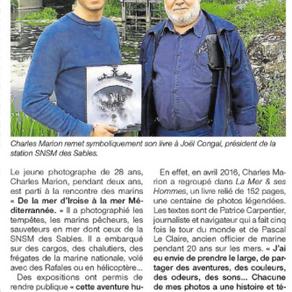 """""""La Mer & ses Hommes"""" remis à Joël Congal, président de la SNSM des Sables d'Olonn"""