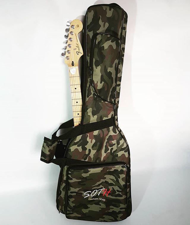 Lançamento Bag SOTH PREMIUM para guitarra Verde camuflado._Peça ja o seu por somente R$ 189.00 Frete