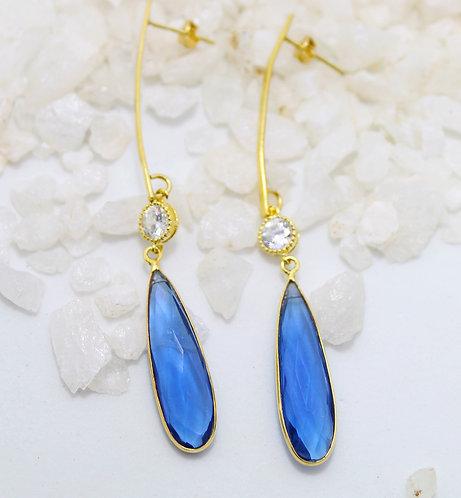 Aros Cuarzo azul