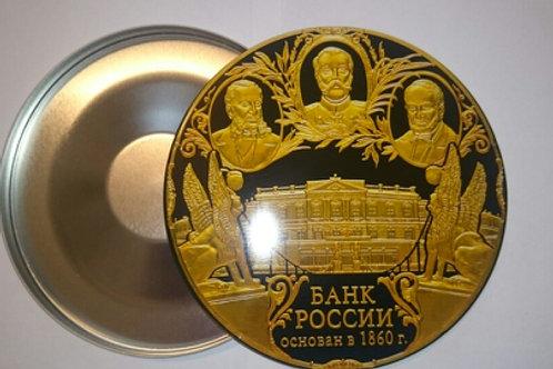 Жестяной бокс для CD/DVD, 125mm x 10mm, белый