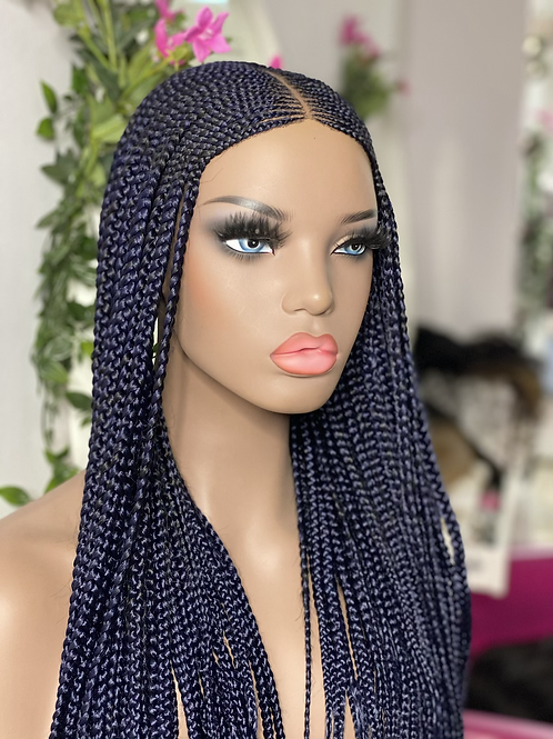 24inches kiekie full lace wig in dark blue (ready to ship)