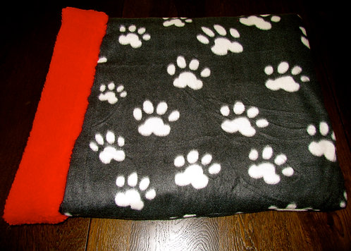 Beige Paw Print on Black Snuggle Pouch(Click here)