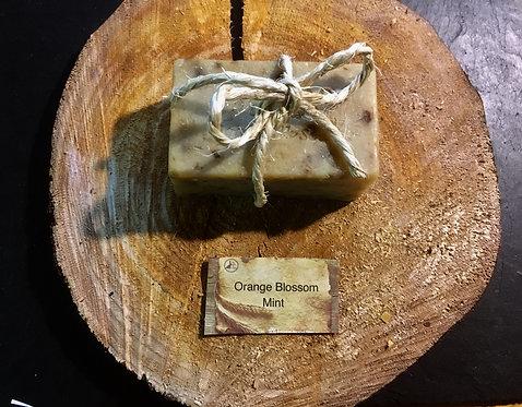 Li'l Sis Rustic Herbal Orange Blossom Mint Hand Milled Soap