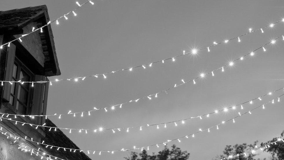 Cool White LED Static String