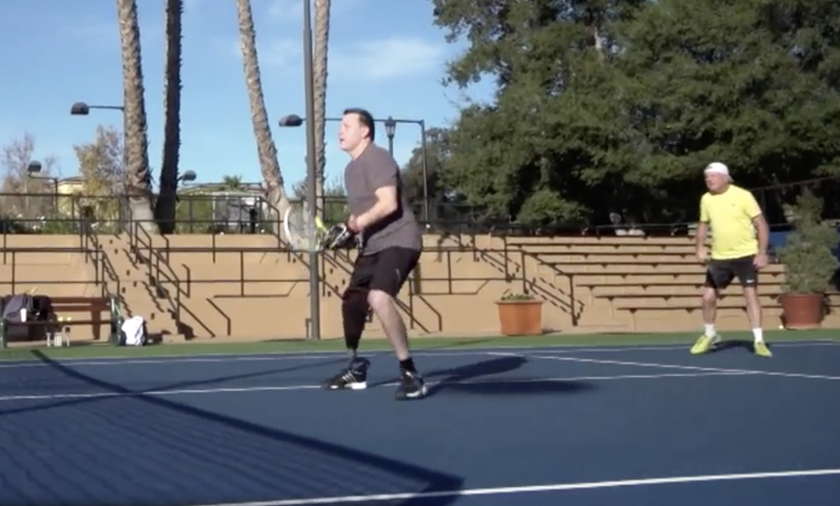 Jonathan back on the tennis court