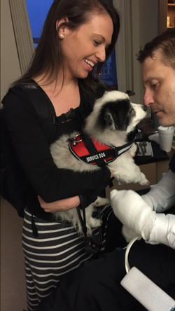 2015-03-16 Jennifer bring Sasha to MN to see Jonathan for first time in months