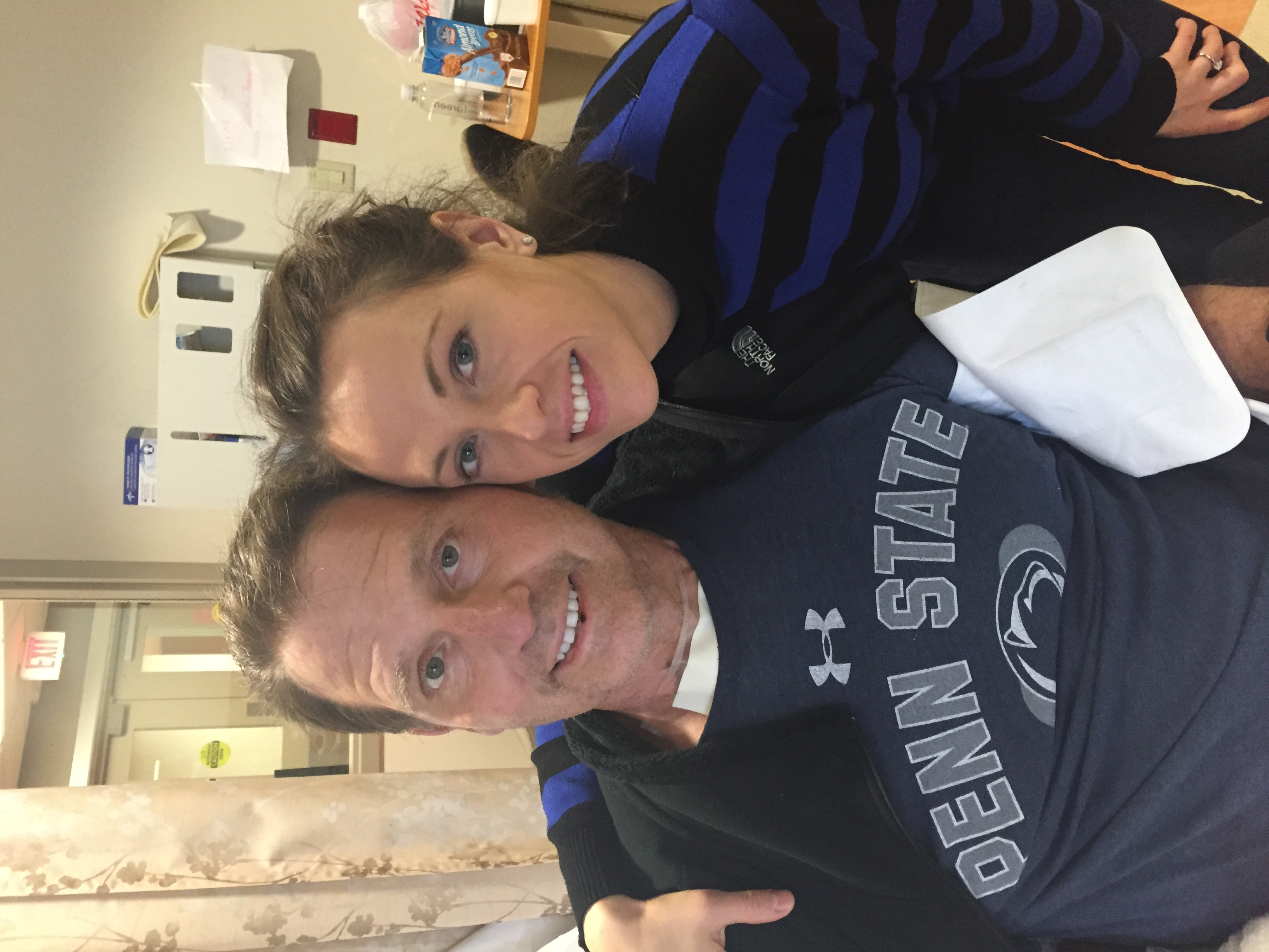2015-03-01 Jonathan and Jennifer after he has woken up from coma and lost almost 40 pounds at 180 lb