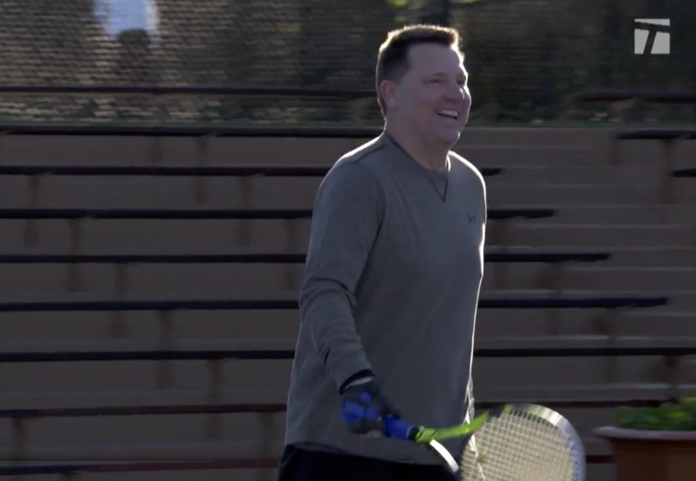 Jonathan playing tennis again 2018