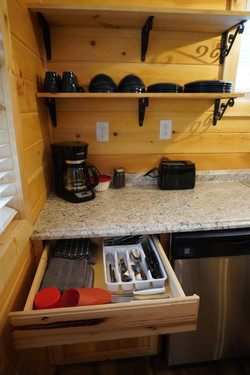 Fully stocked kitchens and bathrooms.