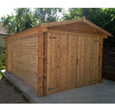 Garage 40 mm Massivholz behandelt Gardy Shelter