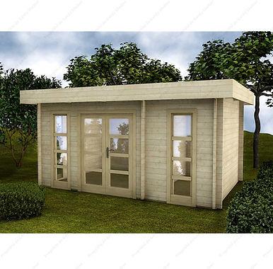 Rohholzgartenhaus mit Innenwand Gardy Shelter