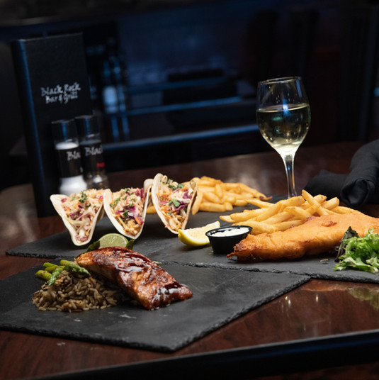 Salmon, Fish Tacos, Fish & Chips