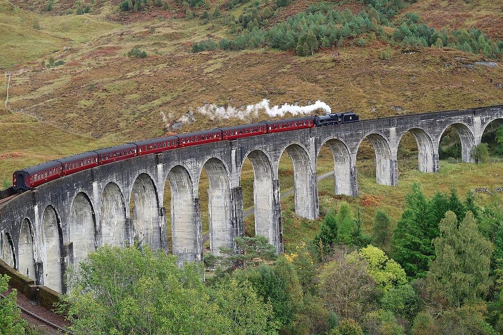 Glenfinnan Viaduct, Jacobite Express, Sc