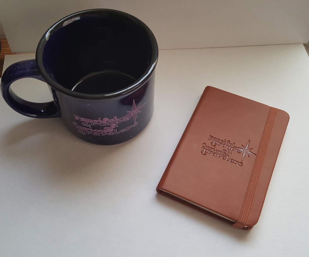 Mug and journal top