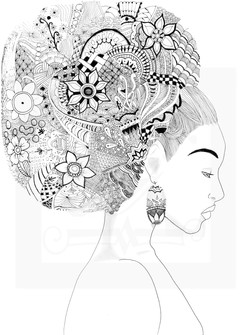 Zentangle Afro Puff