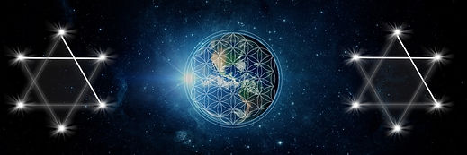 Earth with Flower of Life and Star of David
