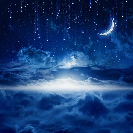 Falling Stars & Moon