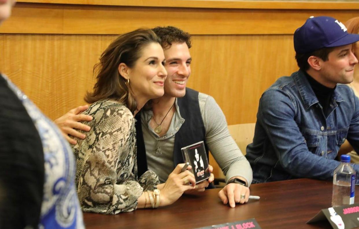 Stephanie J. Block and Jarrod Spector at Barnes&Noble for The Cher Show OBCR CD signing (Shot for Marathon Digital)