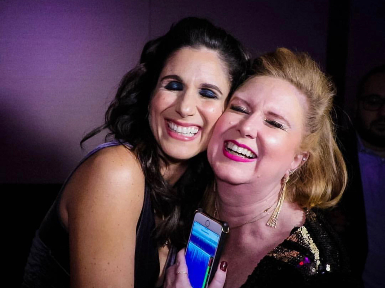 Stephanie J. Block and Julie James at opening night of The Cher Show