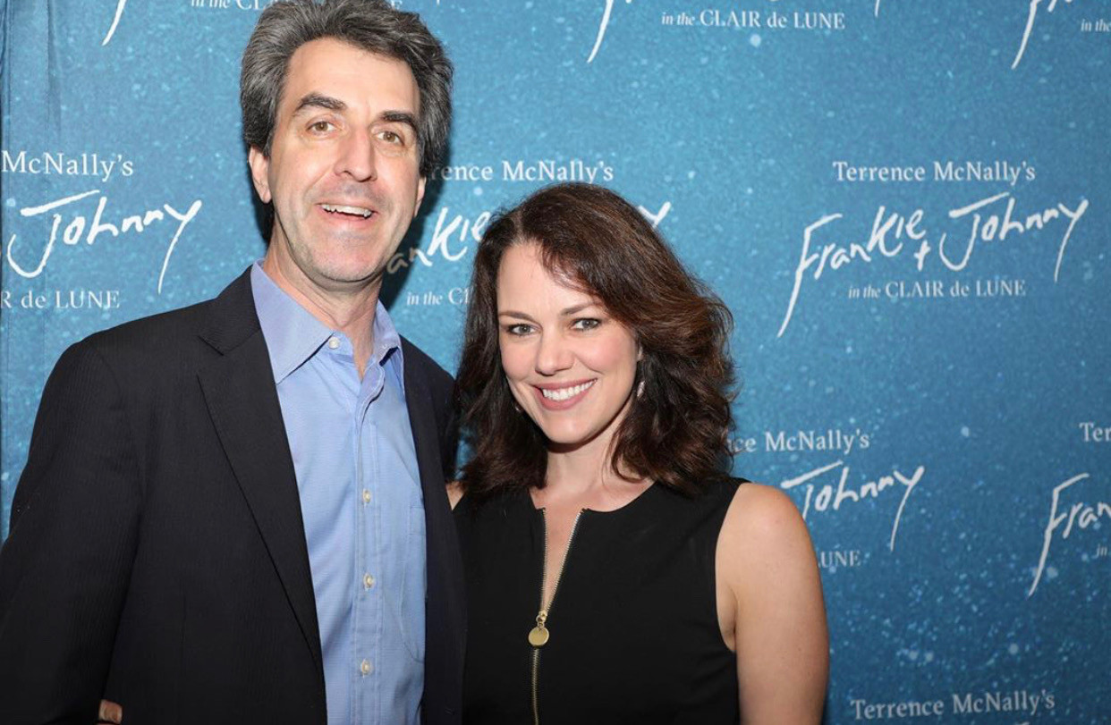 Georgia Stitt and husband Jason Robert Brown at opening night of Frankie and Johnny in the Claire de Lune at the Broadhurst Theater (Shot for Marathon Digital)