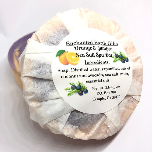 Orange and Juniper Berry Sea Salt Spa Bar