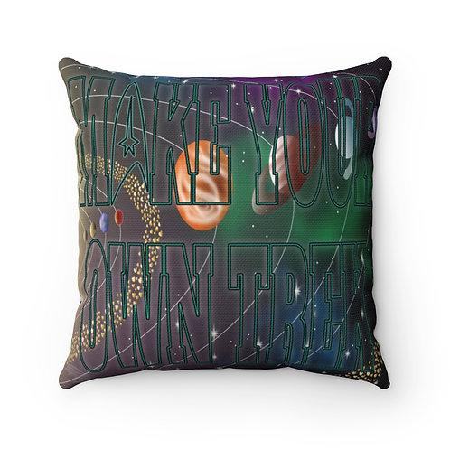 Trek-Themed Square Throw Pillow